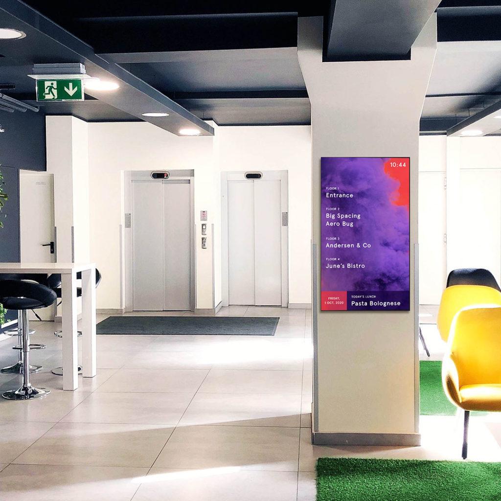 Digital signage showing a floor plan – Real estate, Smartsign