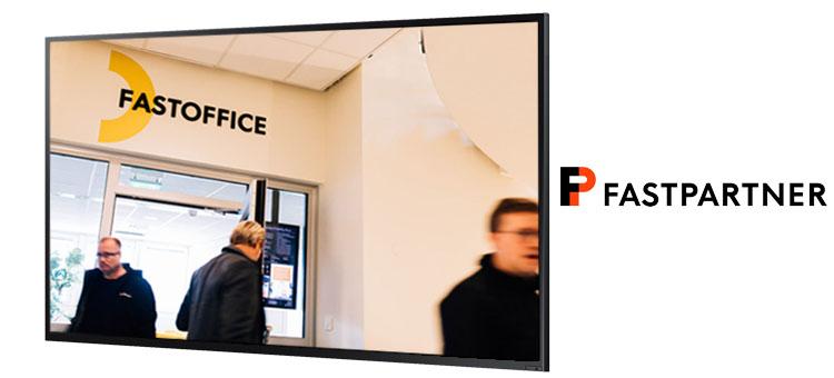 Fastpartner uses Smartsign for digital signage