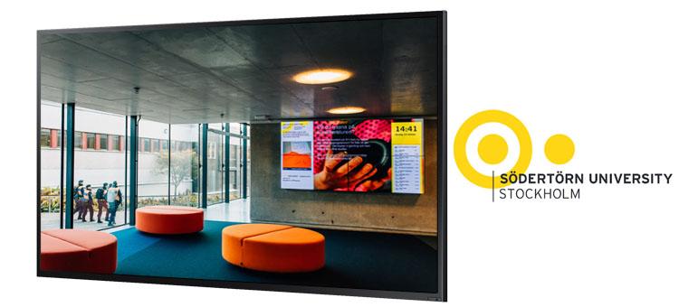 Södertörn University in Stockholm uses Smartsign for digital signage
