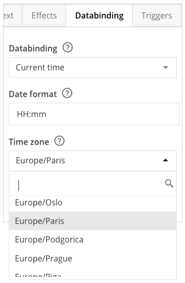 Changing time zone in Template Creator – Smartsign, Digital Signage