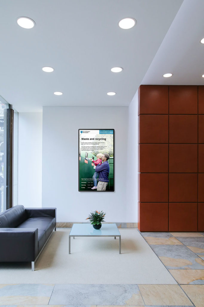 digital signage at municipality offices