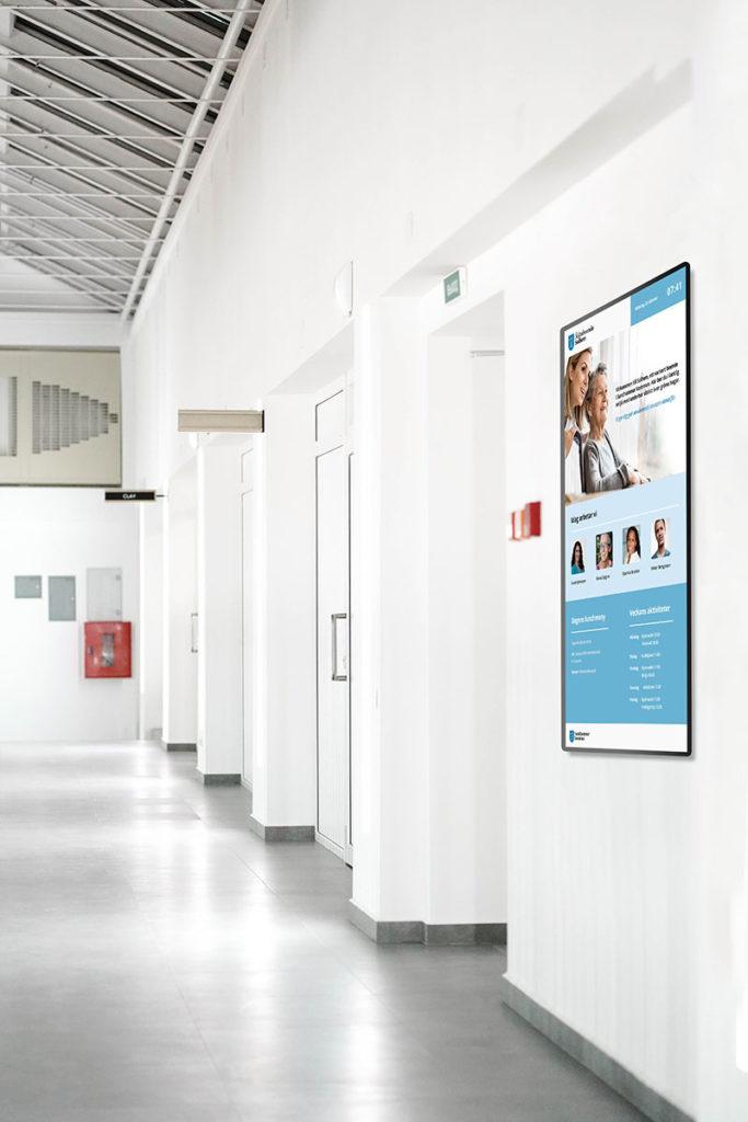 Digitala skyltar för äldreboende