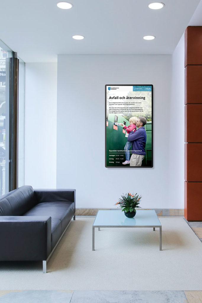 Digitala skyltar för kommunkontor