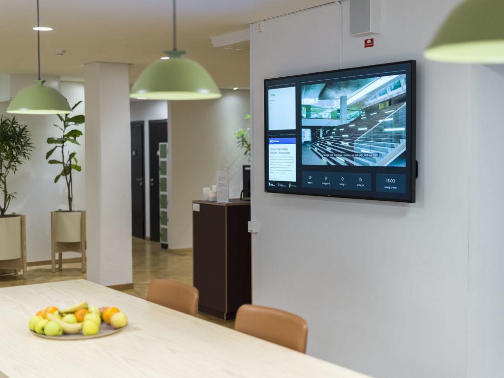 Digital signage at our customer Statens Fastighetsverk in Stockholm, Sweden
